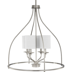 Bonita Collection Four-Light Brushed Nickel Foyer Chandelier