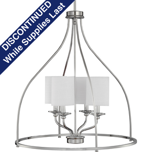 Bonita Collection Four-Light Polished Chrome Foyer Chandelier