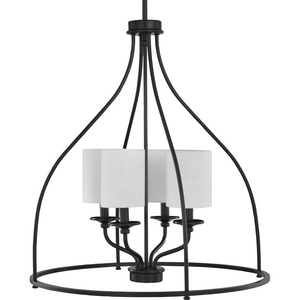 Bonita Collection Four-Light Black Foyer Chandelier