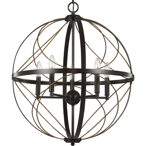 Brandywine Collection Antique Bronze Five-Light Pendant