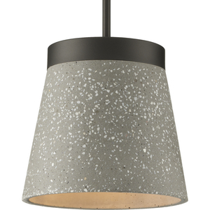 Terrazzo Collection One-Light Graphite and Grey Terrazzo Hanging Pendant Light