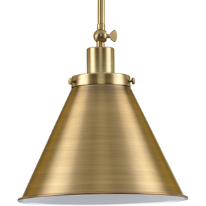 Hinton Collection One-Light Vintage Brass Vintage Style Hanging Pendant Light