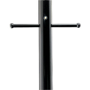 Outdoor 7' Aluminum Post with Ladder Rest and Photocell