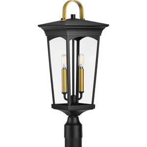Chatsworth Collection Black Two-Light Post Lantern