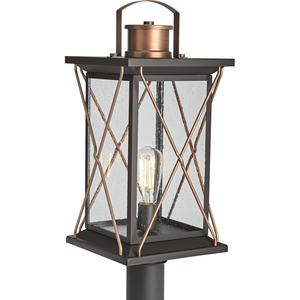 Barlowe Collection Antique Bronze One-Light Post Lantern