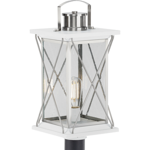 Barlowe Collection Stainless Steel One-Light Post Lantern