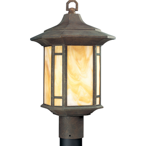 Arts and Crafts Collection One-Light Post Lantern