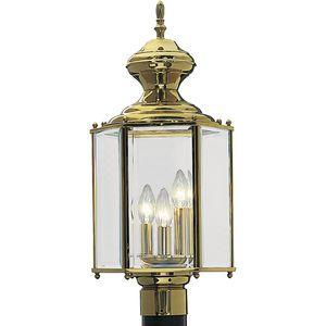 BrassGUARD Collection Three-Light Post Lantern