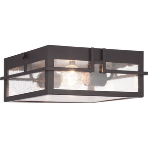 Boxwood Collection Two-Light Outdoor Flush Mount