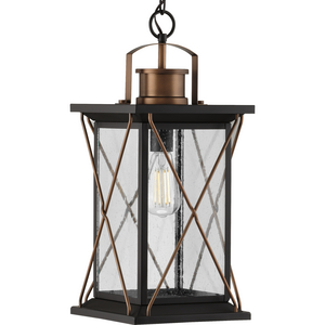 Barlowe Collection Antique Bronze One-Light Hanging Lantern