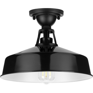 Cedar Springs Collection Black One-Light Semi-Flush Mount
