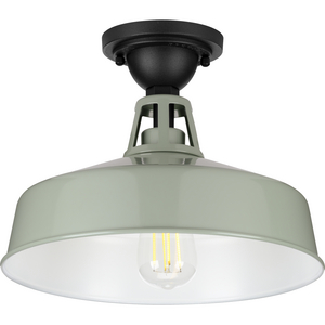Cedar Springs Collection Pistachio One-Light Semi-Flush Mount