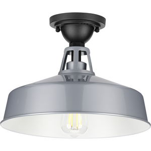 Cedar Springs Collection Metallic Gray One-Light Semi-Flush Mount