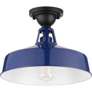Cedar Springs Collection Navy One-Light Semi-Flush Mount