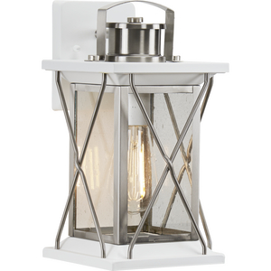 Barlowe Collection Stainless Steel One-Light Small Wall Lantern