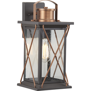 Barlowe Collection Antique Bronze One-Light Medium Wall Lantern