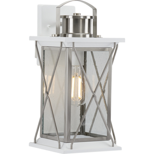 Barlowe Collection Stainless Steel One-Light Medium Wall Lantern