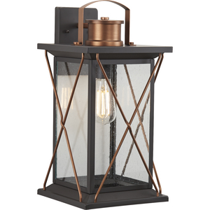 Barlowe Collection Antique Bronze One-Light Large Wall Lantern