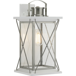 Barlowe Collection Stainless Steel One-Light Large Wall Lantern