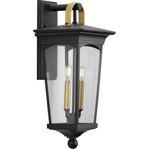 Chatsworth Collection Black Two-Light Medium Wall Lantern