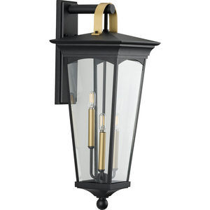 Chatsworth Collection Black Three-Light Large Wall Lantern