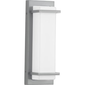 Z-1080 LED Collection Metallic Gray One-Light Small LED Outdoor Sconce