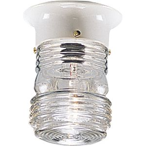 One-Light Utility Outdoor Close-to-Ceiling