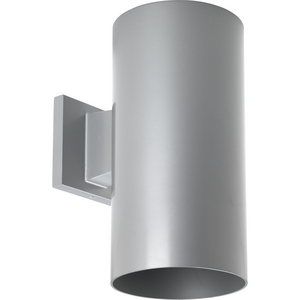 "6"" Metallic Gray LED Outdoor Wall Cylinder"