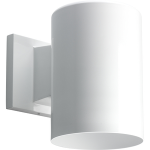 """5"""" White Outdoor Wall Cylinder"""
