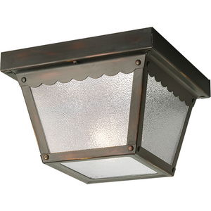 """One-Light 7-1/2"""" Flush Mount for Indoor/Outdoor use"""