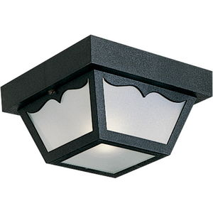 """One-Light 8-1/4"""" Flush Mount for Indoor/Outdoor use"""