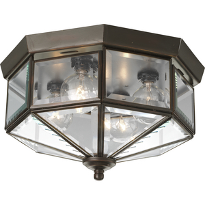 "Four-Light Beveled Glass 11-1/8"" Close-to-Ceiling"