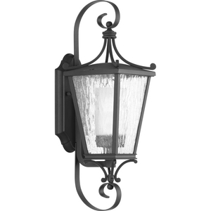 Cadence Collection Black One-Light Small Wall Lantern