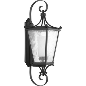 Cadence Collection Black One-Light Large Wall Lantern