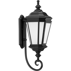 Crawford Collection Black One-Light Large Wall Lantern