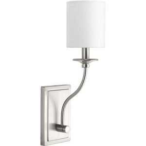 Bonita Collection Brushed Nickel One-Light Wall Sconce