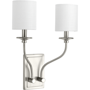 Bonita Collection Brushed Nickel Two-Light Wall Sconce