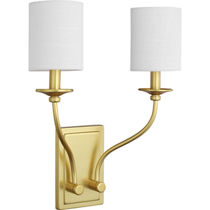 Bonita Collection Satin Brass Two-Light Wall Sconce
