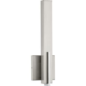 Planck LED Collection One-Light LED Wall Sconce, Brushed Nickel Finish