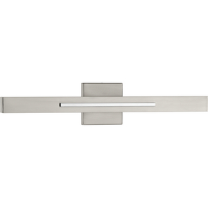 Planck LED Collection Two-Light LED Wall Sconce, Brushed Nickel Finish