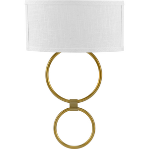 LED Shaded Sconce Collection Brushed Bronze One-Light Circle LED Wall Sconce