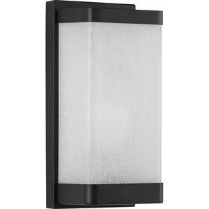One-Light Linen Glass Wall Sconce