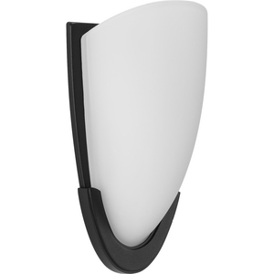 LED Etched Glass Black LED Wall Sconce