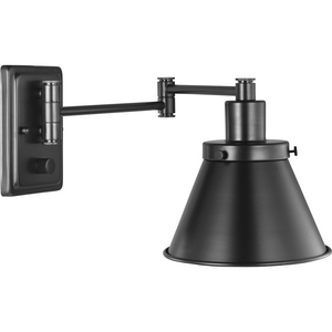 Hinton Collection Black Swing Arm Wall Light