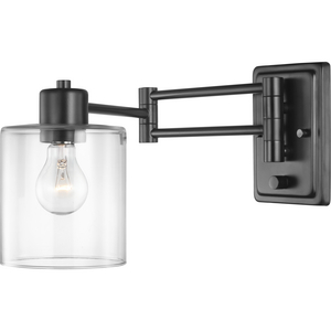 Milner Collection Black Swing Arm Wall Light