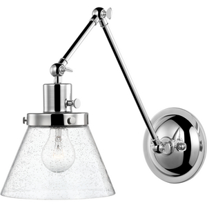 Hinton Collection Polished Nickel Swing Arm Wall Light