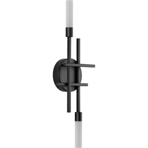 Quadrant LED Collection Two-Light Matte Black Modern Style Wall Light