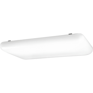 """Linear Cloud Collection 26"""" LED Linear Cloud, White Finish"""