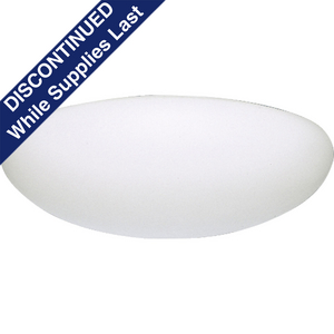 "16"" Fluorescent Cloud Two-Light Close-to-Ceiling"