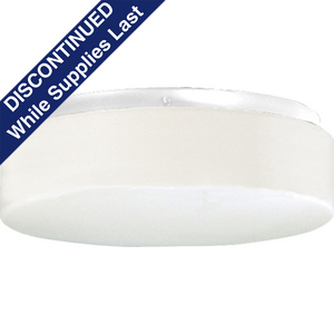 """Hard-Nox Collection Two-Light 11"""" CFL Close-to-Ceiling"""